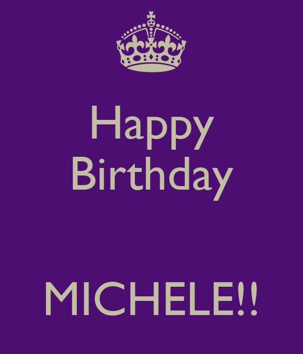 happy birthday michele images