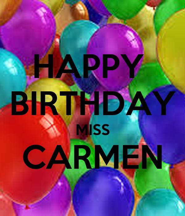 hd happy birthday carmen - photo #2
