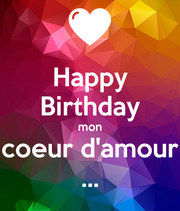 Happy Birthday Mon Coeur Damour Poster Cindy Keep