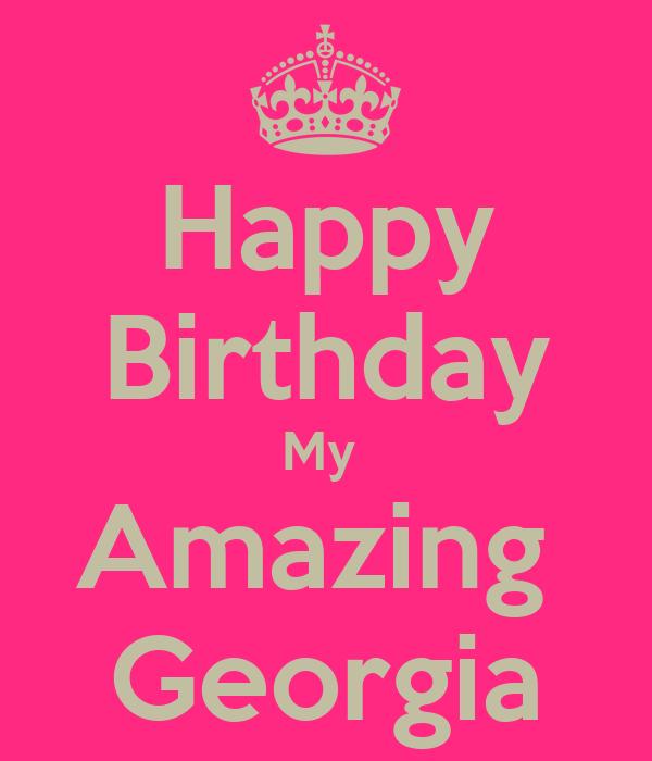 Happy Birthday My Amazing Georgia Poster