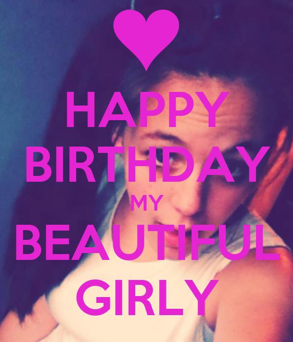 Happy Birthday My Beautiful Girly Poster Beth Keep