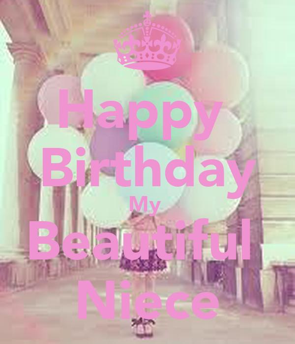 Happy Birthday My Beautiful Niece Poster