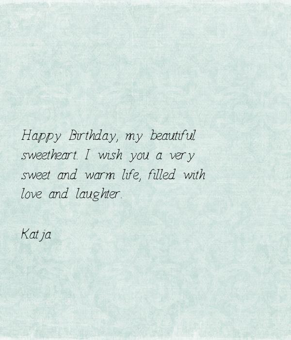 Happy Birthday, My Beautiful Sweetheart. I Wish You A Very