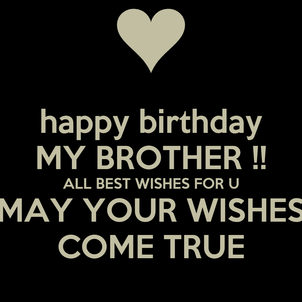 Happy Birthday MY BROTHER !! ALL BEST WISHES FOR U MAY