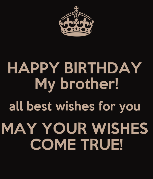 Happy Birthday My Brother All Best Wishes For You May Happy Birthday My Best Wishes For You