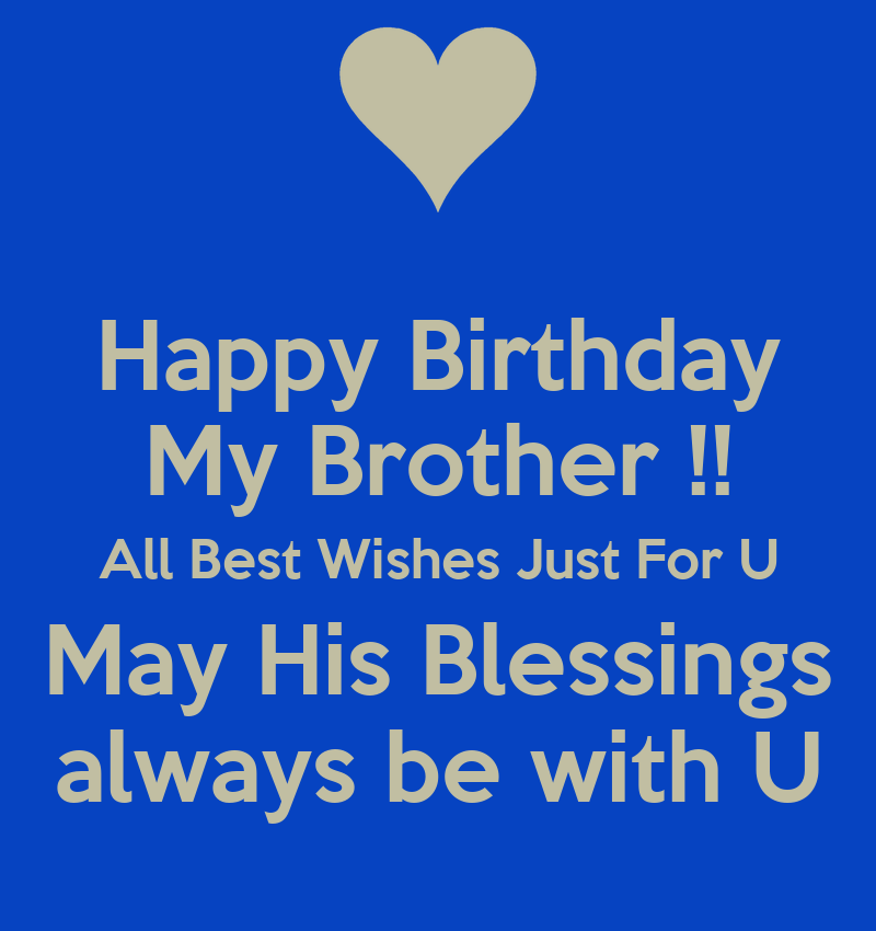 Happy Birthday My Brother All Best Wishes Just For U May His