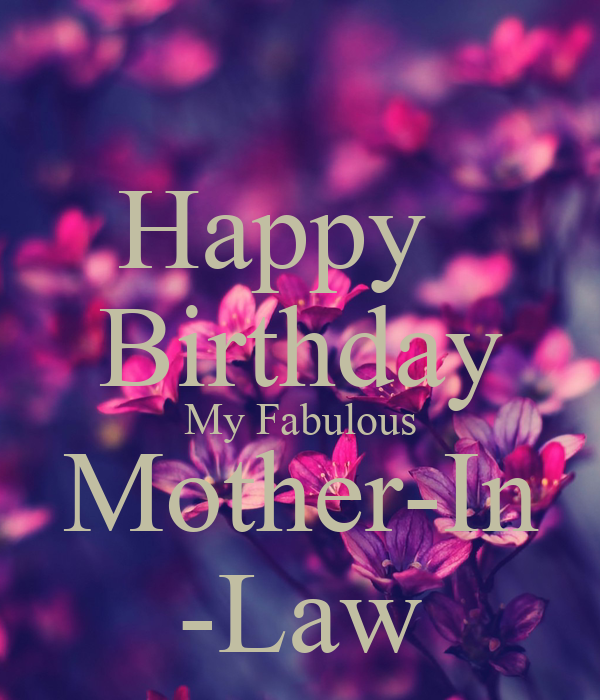 happy birthday to my mother in law