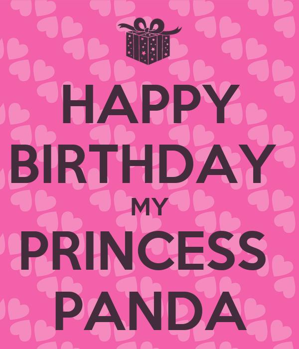 HAPPY BIRTHDAY MY PRINCESS PANDA Poster