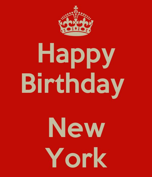 Happy Birthday New York Poster