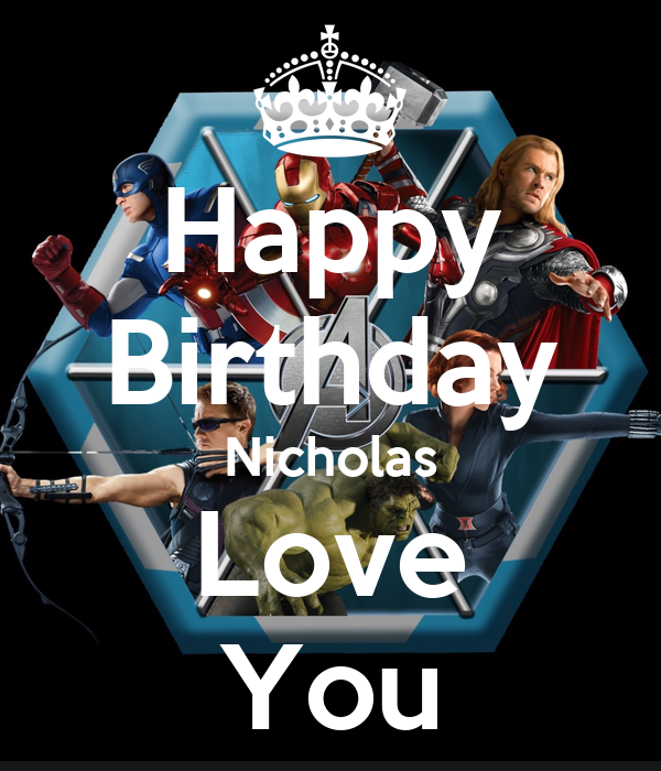 Happy Birthday Nicholas Love You Poster