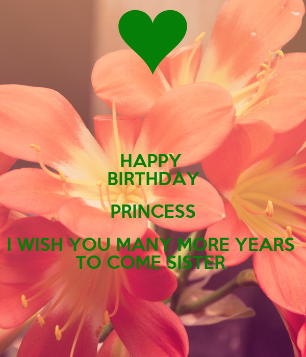 Happy Birthday Princess I Wish You Many More Years To Come Happy Birthday I Wish You Many More