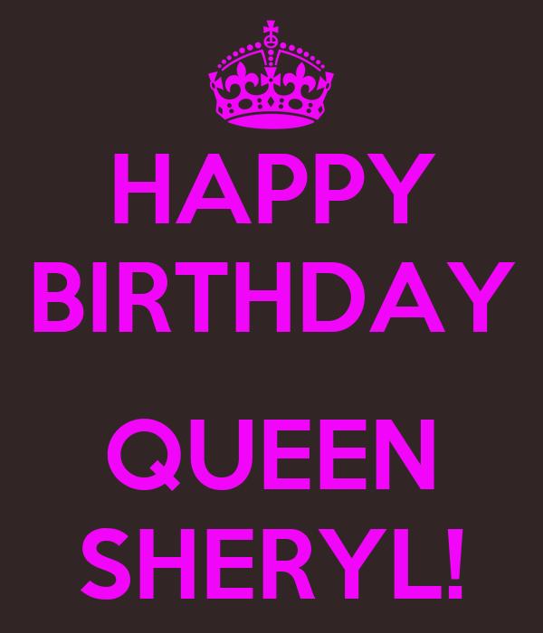 Happy Birthday Sheryl Cake Images