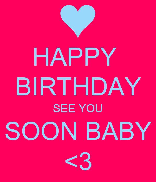 happy to meet you tomorrow baby