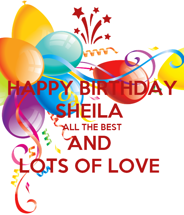 Happy Birthday Sheila Cake