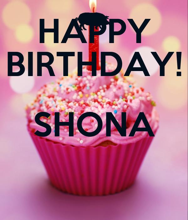 Happy Birthday Shona Cake