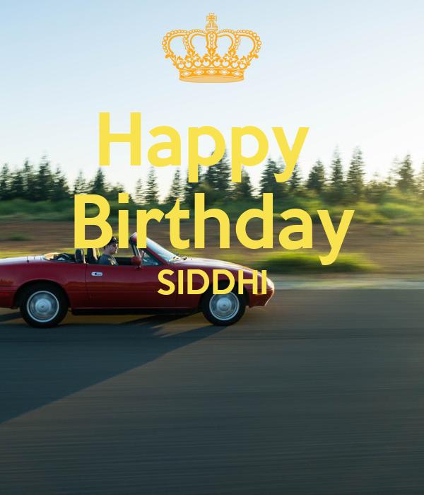 Happy Birthday SIDDHI Poster