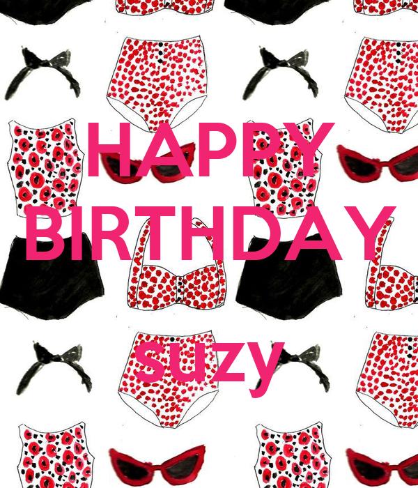 HAPPY BIRTHDAY Suzy Poster