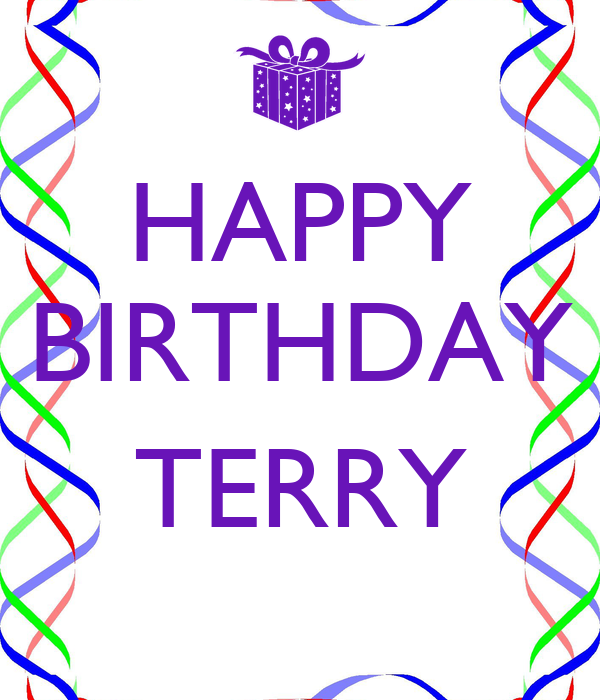HAPPY BIRTHDAY TERRY Poster | Sandy | Keep Calm-o-Matic