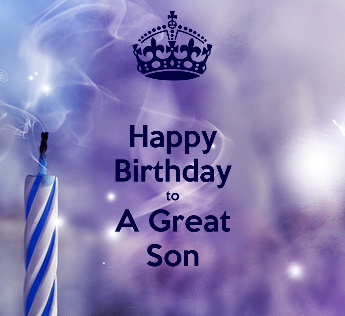 Happy Birthday To A Great Son Poster