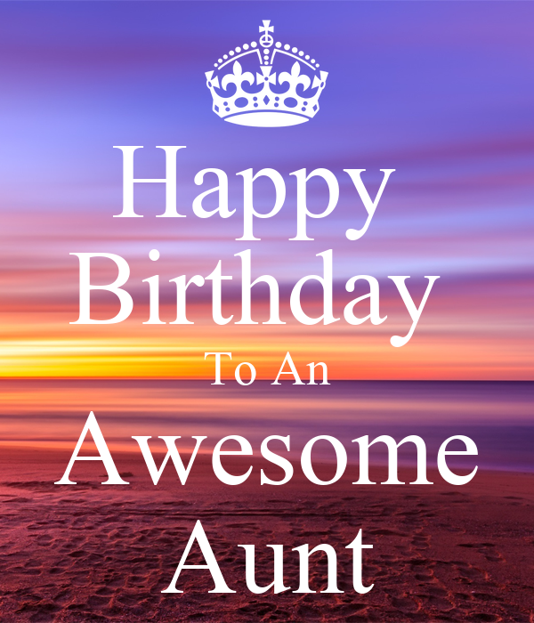 Happy Birthday To An Awesome Aunt Poster Gigi Keep