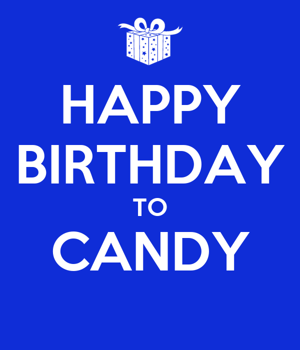 Happy Birthday Candy Poster