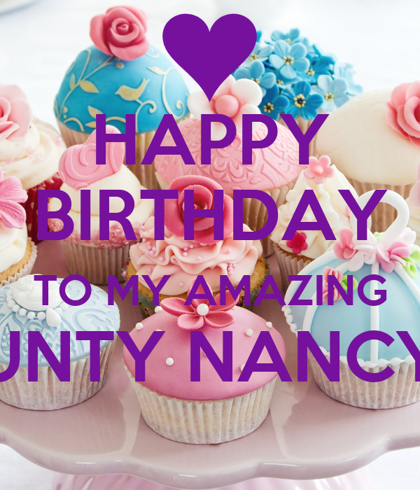 Happy Birthday To My Amazing Aunty Nancy Poster Jackie Keep