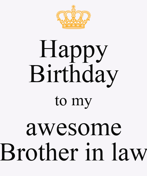 Happy Birthday To My Awesome Brother In Law Poster