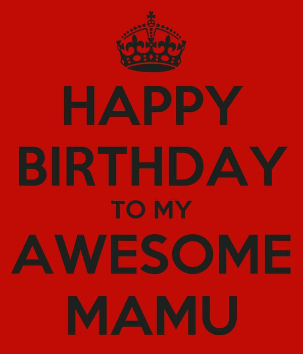 happy birthday to my awesome mamu poster alishba keep aloha clip art hawaiian aloha clipart text