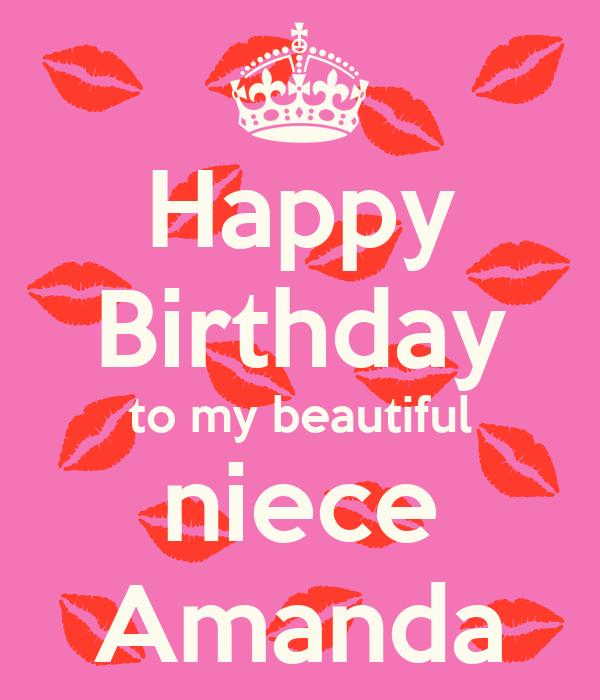 Happy Birthday To My Beautiful Niece Amanda Poster