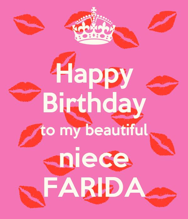 Happy Birthday To My Beautiful Niece FARIDA Poster