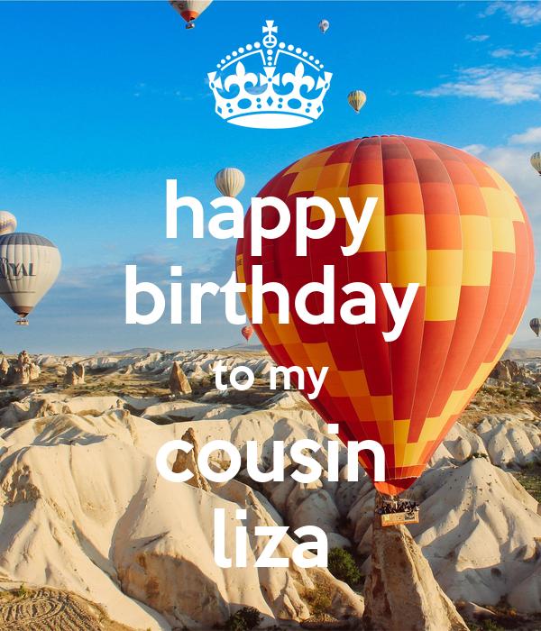 Happy Birthday To My Cousin Liza Poster