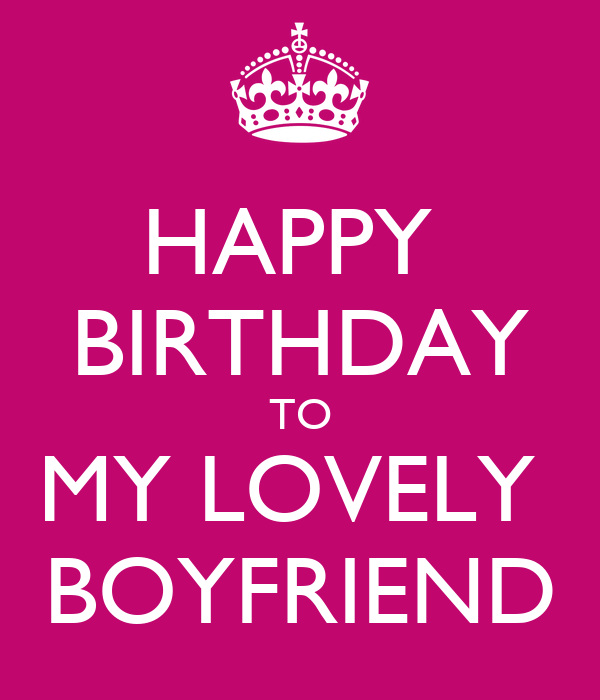 Happy birthday to my lovely boyfriend poster bianca