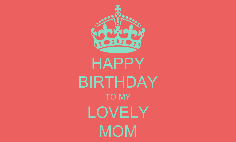 HAPPY BIRTHDAY TO MY LOVELY MOM Poster | benzalphonse ...