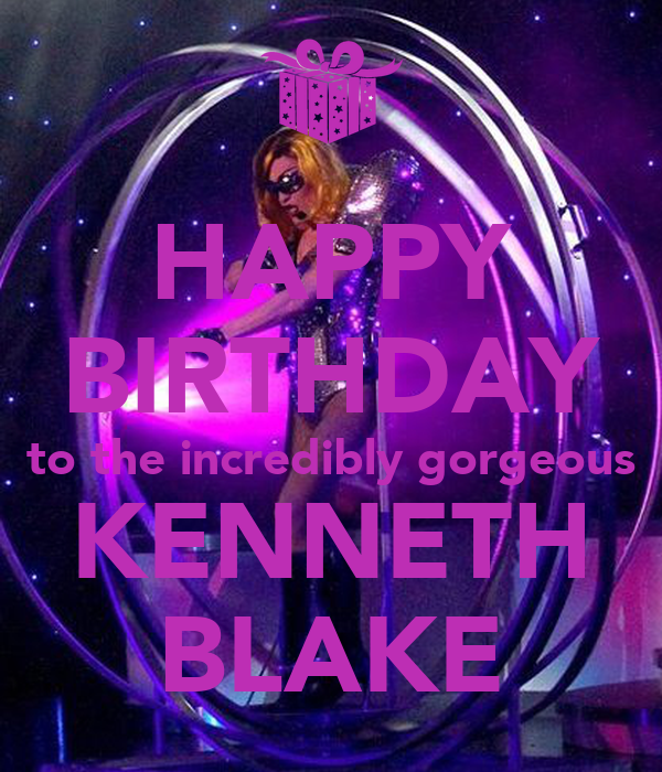 HAPPY BIRTHDAY To The Incredibly Gorgeous KENNETH BLAKE