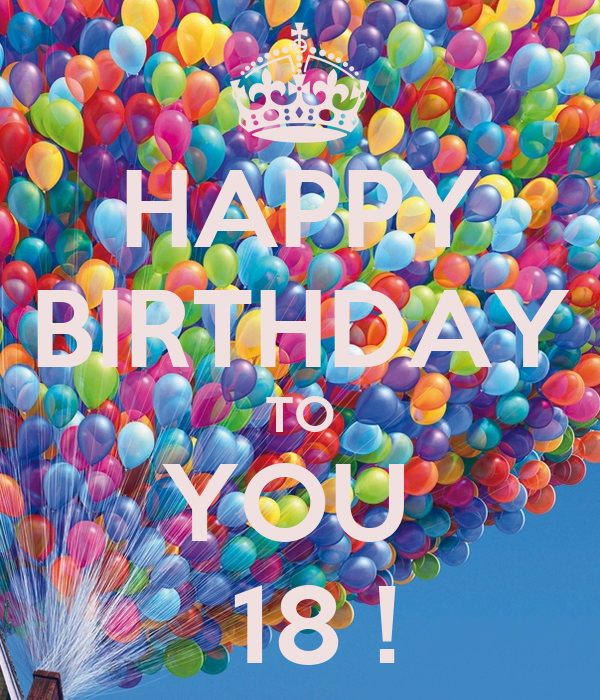 HAPPY BIRTHDAY TO YOU 18 ! Poster