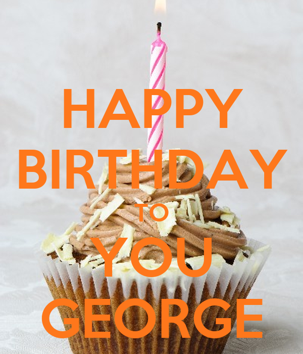 Happy Birthday Cake George