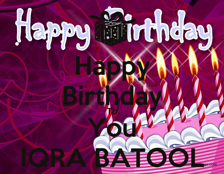 Happy Birthday To You Iqra Batool Poster Shamraiz Shah