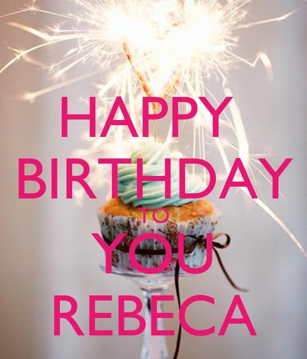 Happy Birthday Rebecca Cake Images