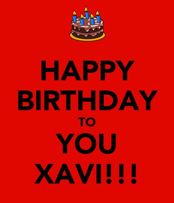 Happy Birthday Xavi