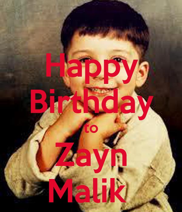 Happy Birthday To Zayn Malik Poster
