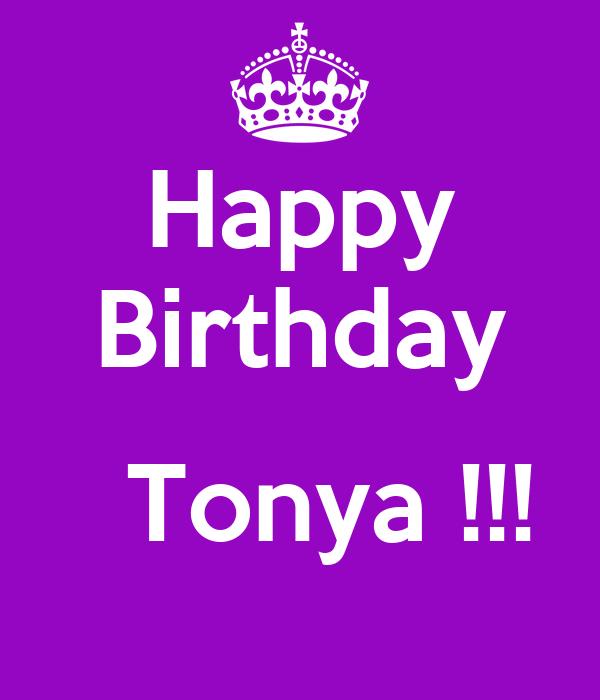 Happy Birthday Tonya Poster