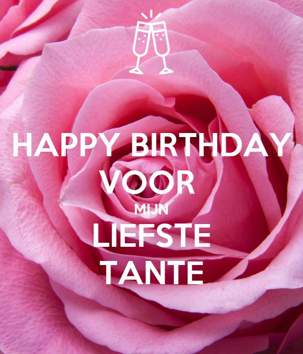 Onwijs HAPPY BIRTHDAY VOOR MIJN LIEFSTE TANTE Poster | MAYKE | Keep Calm PR-41