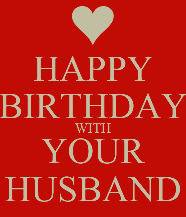 happy birthday with your husband