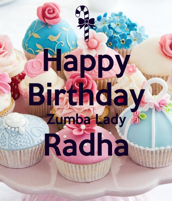 Happy Birthday Zumba Lady Radha Poster
