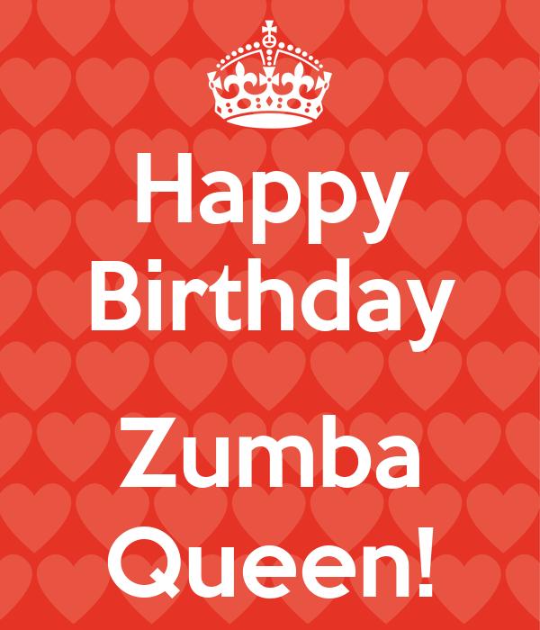 Happy Birthday Zumba Queen! Poster