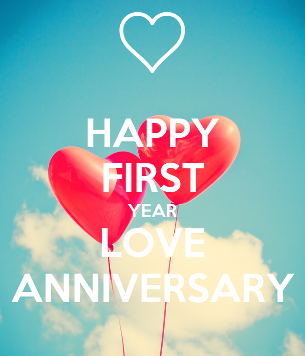 happy first year love anniversary poster son keep calm o matic