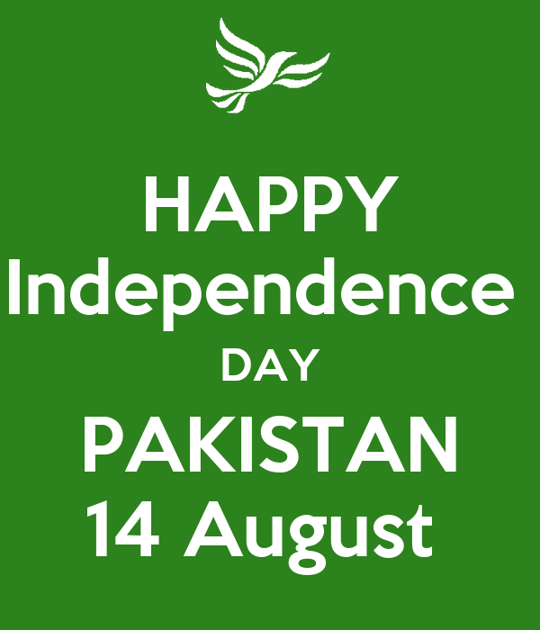Happy Independence Day Pakistan 14 August Poster Adeel Ahmed Keep Calm O Matic