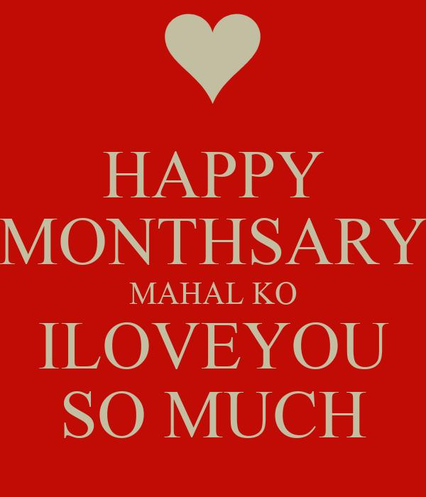 Happy 4th Monthsary Mahal ko Happy Monthsary Mahal ko