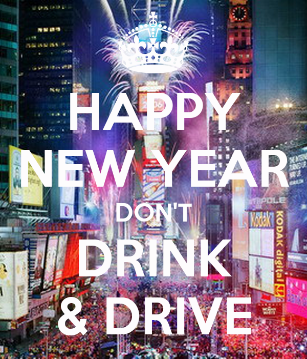 happy new year dont drink drive