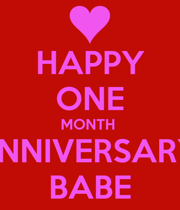 Agree, rather what to do for a one month anniversary